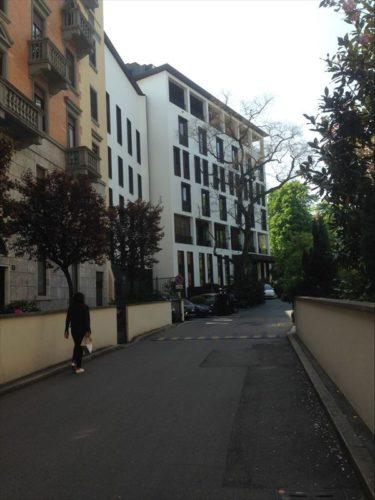 プライベート路地をさらに奥に入った所に位置するブルガリホテル