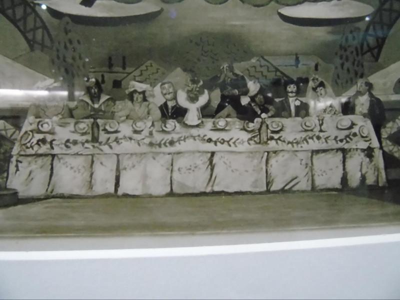 コクトーによる、最後の晩餐風?の絵画